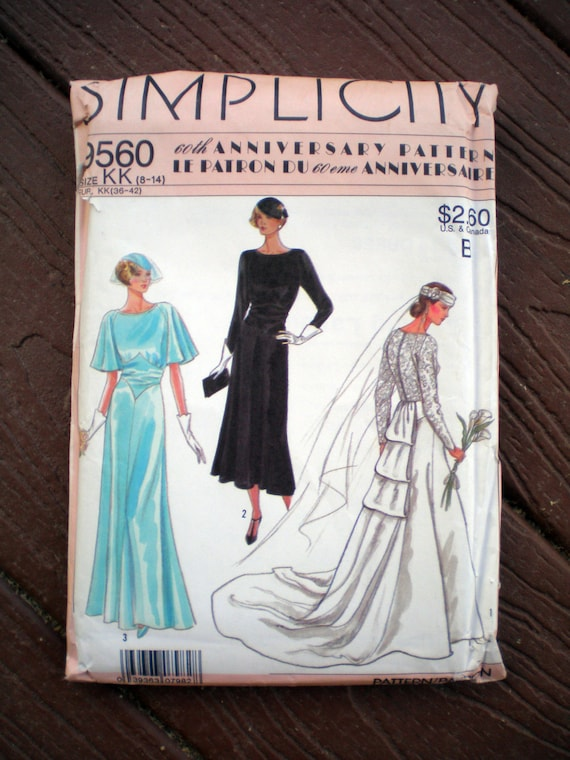 Items similar to Simplicity 9560 1920s Repro Vintage Gown ...