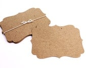 """Large Bracket Cards, 5.5"""" x 3.75"""", 30 Blank in a variety of colors, die cut note cards, hang tag, invitation card, wish tree tags"""