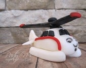 EDIBLE (Fondant Topper) - Harold the Helicopter