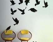 Doves wall decals, Pigeon Vinyl Wall Sticker, Dove Wall Decal Home, Doves wall sticker for bedroom