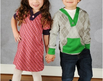 Hangout Hoodie: Hoodie Sewing Pattern, Girls Dress Pattern