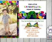 Hungry Caterpillar Birthday Invitation with Photo