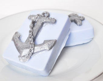 Anchor Soap -  Dad gift - Open Waters ocean scent - sailor soap - nautical soap - man soap