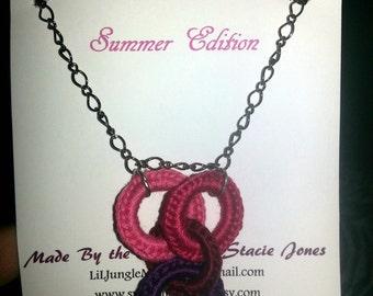 Interlocking Love Circles Crochet Necklace