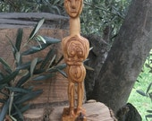 Cycladic Figure Sculpted From Olive Wood