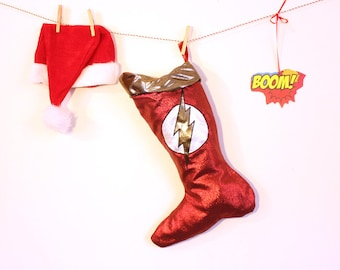 The Flash Christmas Stocking: Holiday Stockings for guys