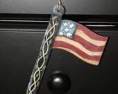 Hand Painted Wood Ornie - Americana - OFG - FAAP
