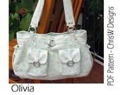 Bag Sewing Pattern - Olivia - great handbag, hobo bag or nappy bag by ChrisW Designs