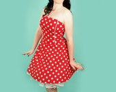 Polka Dot Rockabilly Dress Pin up 50s Retro