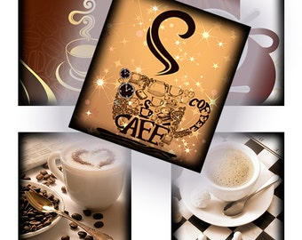 Coffee - 72  0.75 inch x 0.83 inch scrabble tile images for scrabble