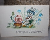 Easter Card - Vintage Postcard - Greeting Card - Happy Easter