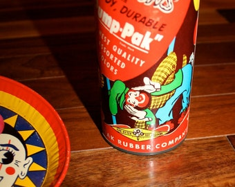 Vintage Rubber Balloon Dispenser toy supply Oak Rubber Company 1950s