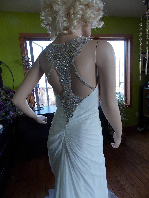 Wedding Dress rhinestone 1920s vintage inspired bridal