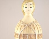 Vintage 1960s Mod Face Bottle Doll