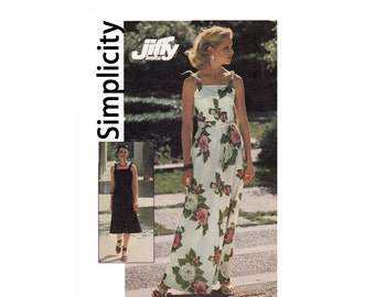 Simplicity 7519 Jiffy sewing pattern Size Medium 12-14 Bust 34-36 knit dress in two lengths Uncut Sewing Pattern from 1976