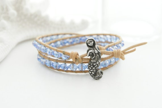 mermaid leather bracelet bracelet friendship bracelet