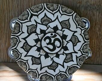 Henna Mandala Om Tambourine