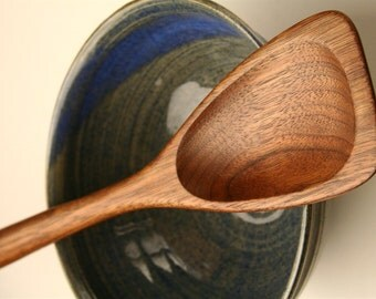Wooden flat ended roux spoon wood kitchen utensil , gravy and white sauce roux spoon