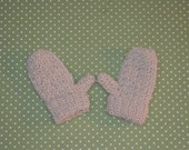 Natural Alpaca Mittens size Toddler 1to3 years Cream Colored and Eco Friendly