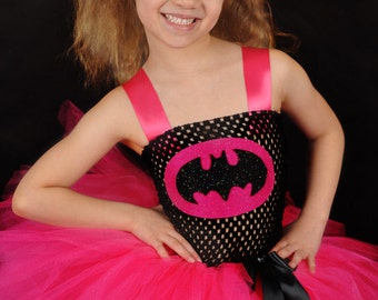 Batman superhero coordinating pigtails black and pink