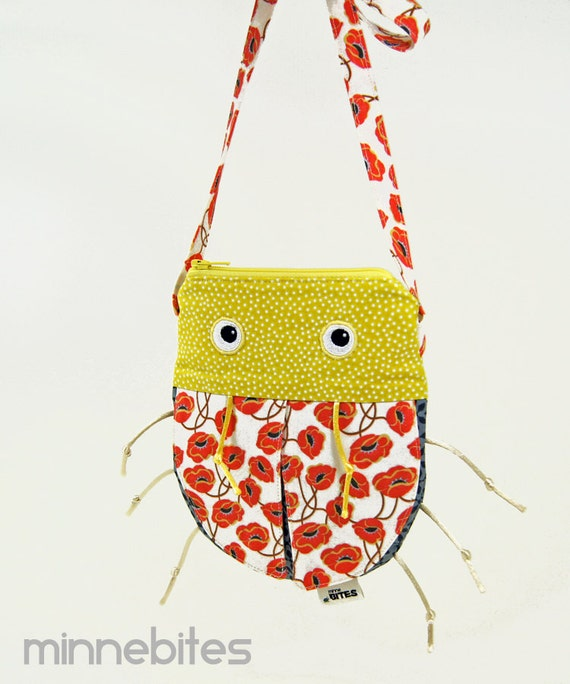 RESERVED ++ Cross Body Purse by MinneBites / Handmade Purse - Accessory for Girls - Cute Girls Purse - Animal Bag, ready to ship