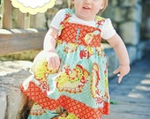 Vivian Knot Dress Sewing Pattern- INSTANT DOWNLOAD PDF Pattern and Tutorial- Childrens Sewing Patterns- Sizes 6-12m through 12