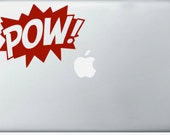 POW COMIC laptop DECAL- macbook iPad computer- vinyl sticker