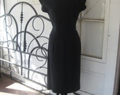 1980s Vintage Leslie Fay Classic Black Dress Size 12 - 80s Women's Dress Perfect for all occasions