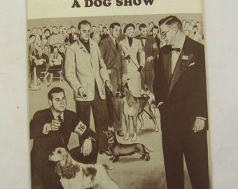 Dog Show Booklet Gaines Dog Food Vintage 1940s Dog Care and Training Book Pamphlet