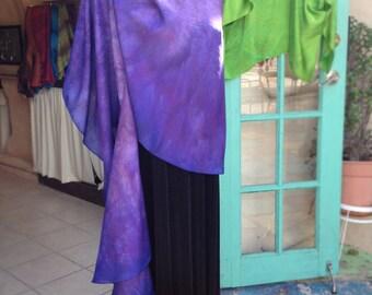 Cascading Stole Pre-Sewn Dye-Ready Silk Garment Kit