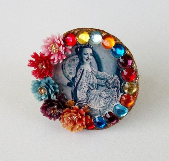 Flamenco Resin Statement Ring, Spanish Jewelry