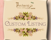 CUSTOM LISTING - for Lisa