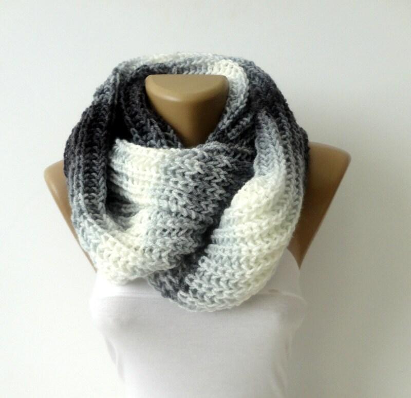 knit scarf infinity scarf chunky knit scarf winter scarf