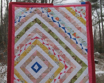 Fern's Trip to the Beach Quilt- A trip to the coast inspired this cheerful quilt