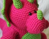 Tina the Triceratops - Amigurumi Plush Crochet PATTERN ONLY (PDF)