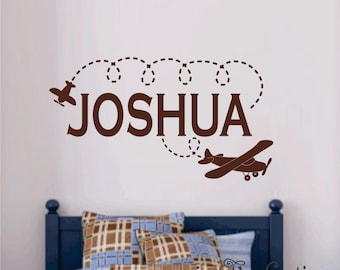Airplane Wall Decals Etsy   Vinyl Wall Decals Airplane