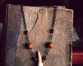SALE Buffalo Tooth Necklace