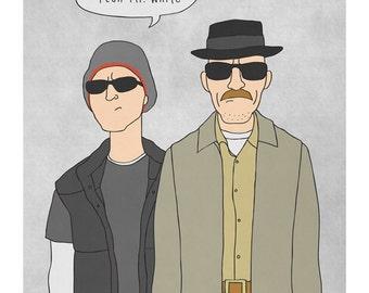 Bold Plan Mr. White - Breaking Bad Illustration Print