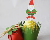 Gnome Cupcake Toppers In Your Choice of Color Qty 12 By Your Little Cupcake