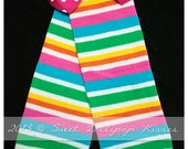 Rainbow Striped Leg Warmers - perfect for Baby, Toddler, Child