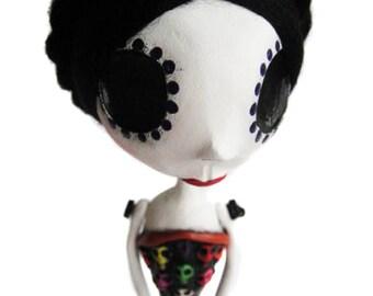 Custom Art Doll - Day of the Dead Doll - OOAK Art Doll - Dia de los muertos - Mexican Art