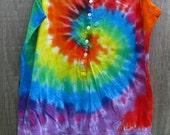Tie dye tank top shirt - womens large rainbow swirl