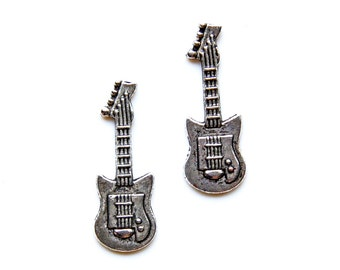 Electric Guitar Cufflinks - Gifts for Men - Anniversary Gift - Handmade - Gift Box Included