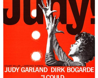 """Judy Garland - I Could Go On Singing - Home Theater Media Room Decor - Movie Musical Poster Print - 13""""x19"""" or 24""""x36"""" - Broadway Musical"""