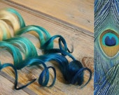 Peacock Blue Reverse Ombre Hair Extensions, Purple Ombre clip in hair extensions, Dark Tip Hair Extensions
