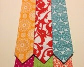 Easter neckties, spring colors, infant and toddler sizes, made to order