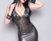 Rebel Latex Spike Dress