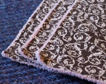 Chenille Burp Cloth Set, Girl Fabrics