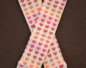 Pink, White, and Orange Hearts Baby / Toddler Leggings