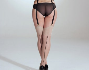 Stockings with Crystal Seams